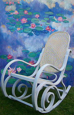 Antique French Rocking chair bergere chair nursing chair shabby chic vintage 3