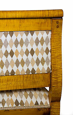 SWC-Vibrant Country/Federal Tiger Maple Settee, New England, c.1810-20 6