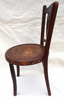 Art Nouveau Child Chair Fichel Bentwood Print Seating Factory Label 2