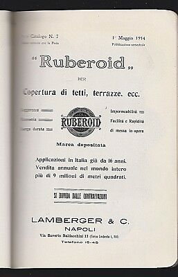 Lamberger & C - Napoli - Catalogo Applicazioni Ruberoid 1914  [*rcn-7]
