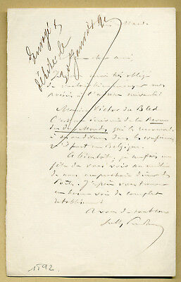 Sully Prudhomme († 1907) - French poet - Autograph letter signed - Nobel Prize 2