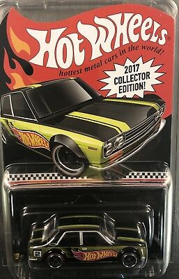 Hot Wheels Datsun Bluebird 510 Green Paint 2017 Collector Edition Free Shipping 3