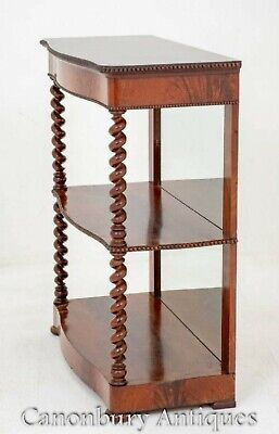 Victorian Dumb Waiter - Antique Bookcase 1880 6