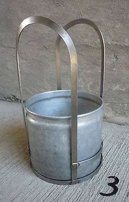 Vintage Stainless Steel Frame and Aluminum Bucket/Pale (#3) 11