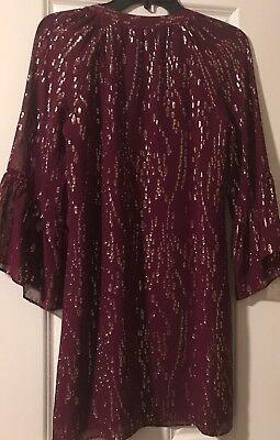 a14551f8eba ... NWT Lilly Pulitzer Matilda Silk Metallic Tunic Dress Fish Clip Chiffon  Shiraz XS 9