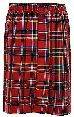 Ages 2-20 Girls School Skirt Box Pleated All round Elasticated Knee Length Grey 2