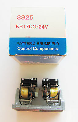 Tyco Potter Brumfield KB17DG-24,10A,  24VDC, 4PDT Dual Coil Latching Relay NOS