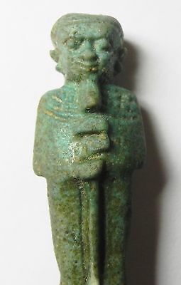 Zurqieh - Af811- Ancient Egypt , Huge Faience Ptah Amulet - Perfect. 600 - 300 B 2