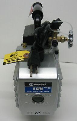 90066-2V-110 6 CFM Vacuum Pump Two Stage 1/3 HP 15 Microns 3440 RPM Mastercool 2