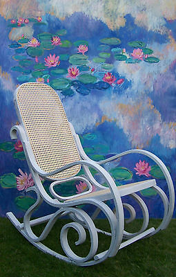 Antique French Rocking chair bergere chair nursing chair shabby chic vintage 4