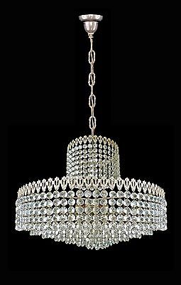 Elegant Large 8 Tier Crystal Beads Wedding Cake Bakalowits Era Chrome Chandelier 9