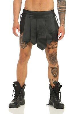 XS-XXXL* Gladiator Kilt Skirt Echt Leder Legionär Rock Schwarz Mittelalter  NEU 7