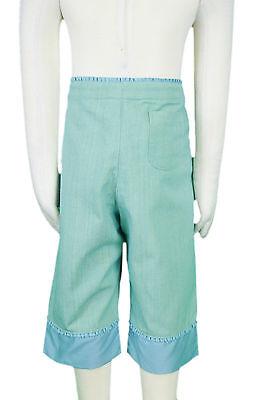 JACADI Girls Cornet Pale green 3/4 Pants w/ Floral Embroidery Sz 8 Years NWT 4