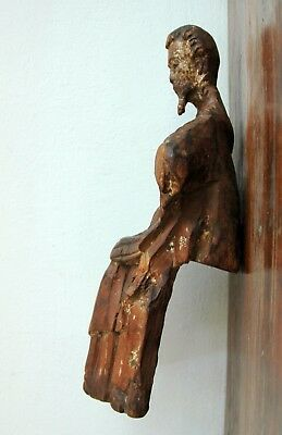 God the Father Carved Wood Antique Santo 17C Spanish Colonial 4