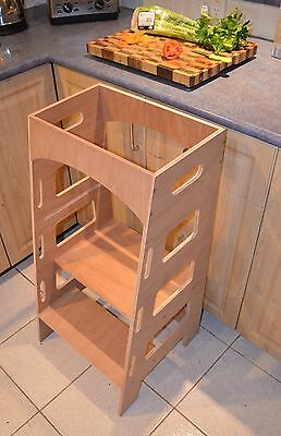 Kitchen Helper Tower Montessori Toddler Stool Step Learning Tower