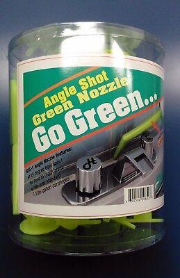 Albion Caulk Gun Nozzles 935-1 Angle Shot Green Plastic 1/10 Gal Cartridges 6 ea