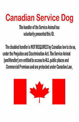 Holographic Service Dog ID Card, Canadian Service Animal ID Tag, Service Dog Tag 2
