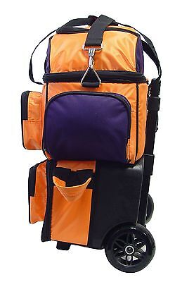 52cdbd5af7 ... KAZE SPORTS 4 Ball Double Decker Bowling Bag Roller Tote with Smooth PU  Wheels 3