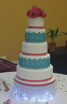 Crystal wedding cake stand & separator set -  round or square 7