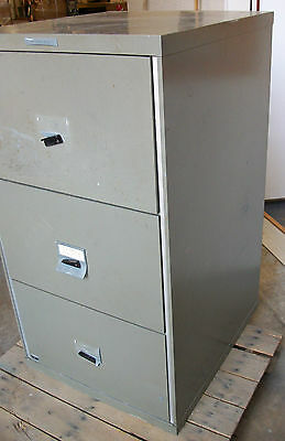 ... 3 Drawer Remington Rand Fire Proof File Cabinet Fireproof Records  Citadel Safe 4