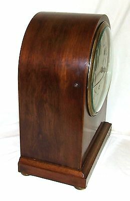 W & H Winterhald Antique Inlaid Mahogany Bracket Mantel Clock RUSSELLS LIVERPOOL 6