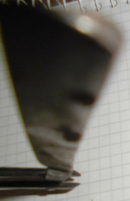 dachbodenfund rasiermesser alt schwarz 2/0 42 stempel unleserl. top vintage deko 9