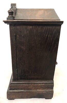 WINTERHALDER HOFFMEIER W & H Antique Oak Bracket Mantel Clock SERVICED 7