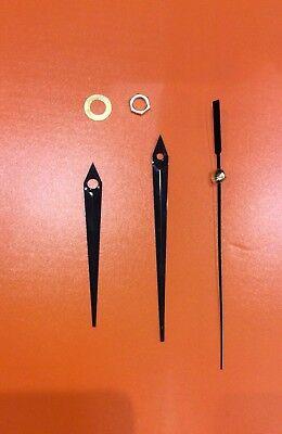 Meccanismo Per Orologio Parete +3 Lancette Nere Movimento Continuo Silenzioso 5