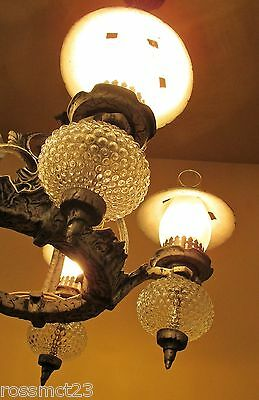 Vintage Lighting striking 1930s Spanish Tudor chandelier, and two sconces 4