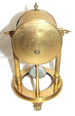 French Antique VINCENTI & CIE Drum Head Brass Striking Bracket Mantel Clock 10