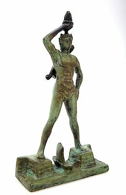 Ancient Greek Bronze Museum Statue Replica Colossus Rhodes 7 Wonders Collectable 2