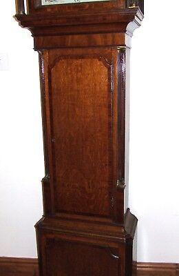 ~ Antique Oak & Mahogany Grandfather Longcase Clock BENJAMIN PEERS CHESTER 8