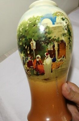 Vintage UK Empire Ware 1930s porcelain hand painted Vase H26cm 2