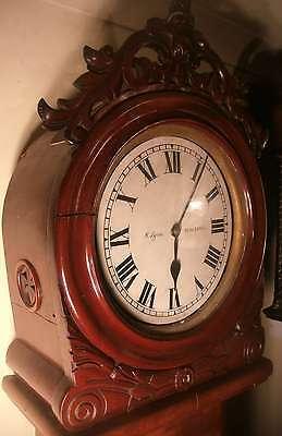 "Antique Mahogany "" Month Regulator""  Blackpool   Longcase / Grandfather Clock 3"