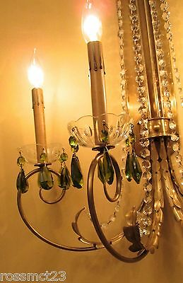 Vintage Lighting 1950 Mid Century Hollywood Regency. ONE chandelier. TWO sconces 9