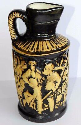 Rare Art Handmade Antique BIG Germany Jug Wine Pitcher Vase Glaze Pottery Mark