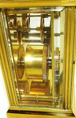 MAPPIN & WEBB Brass Carriage Mantel Clock Timepiece with Key  Working Order (54) 10