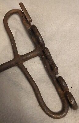 Antique Humber And Ouse River Board Wooden Packing Case Branding Iron Vintage 5