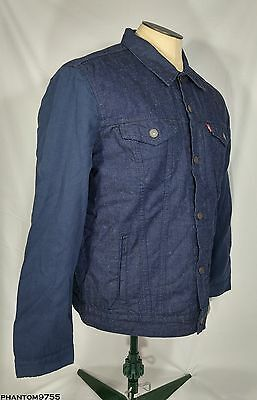 2c93471f8 LEVI'S STRAUSS & Co. Thermore® Trucker Jacket Navy Blue Cotton Men's Size L  NWT