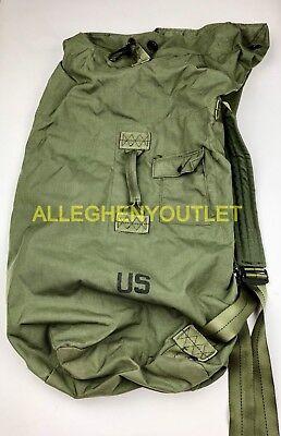 US Military Army DUFFEL DUFFLE SEA BAG LUGGAGE Top Load 2 Strap OD NYLON NICE 5