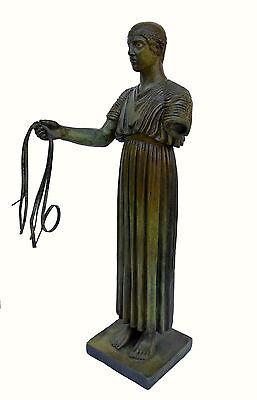 Charioteer Bronze statue of Delphi Ancient Greek reproduction sculpture artifact 3