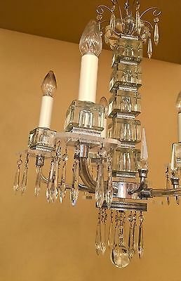 Vintage Lighting extraordinary 1930s Deco crystal chandelier 3