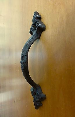 """2 Brown Antique-Style 6.5"""" Cast Iron Decorative Drawer Door Cabinet Pull Handle 7"""