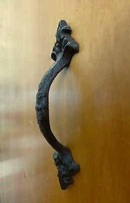 "4 Brown Antique-Style 6.5"" Cast Iron Decorative Drawer Door Cabinet Pull Handle 7"