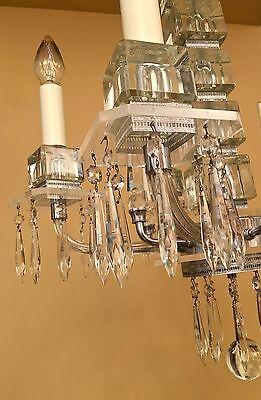 Vintage Lighting extraordinary 1930s Deco crystal chandelier 7
