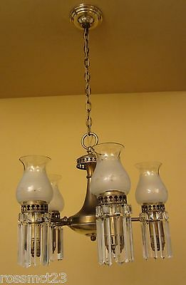 Vintage Lighting 1930s Colonial set by Lightolier. 1 chandelier. 3 sconces 2