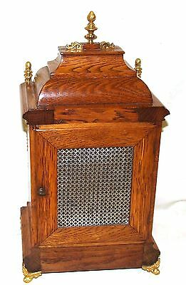 Antique Oak & Ormolu TING TANG Bracket Mantel Clock : Winterhalder W & H (a27) 10