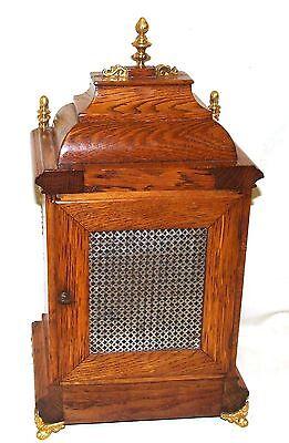 # Antique Oak & Ormolu TING TANG Bracket Mantel Clock : Winterhalder W & H (a27) 10