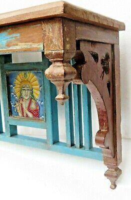 Reclaimed shabby chic Wooden Rack kitchen / bathroom lintel Wood top decor tile 3
