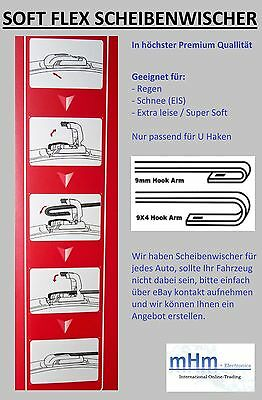 """Scheibenwischer 21/"""" 533mm Speed-Flex Balken Wischer Wischerblatt 9mm U-Haken"""
